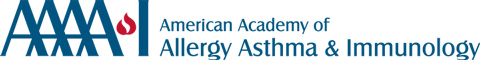 The American Academy of Allergy Asthma and Immunology logo